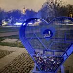 Metalowe serce Park Centralny Olsztyn